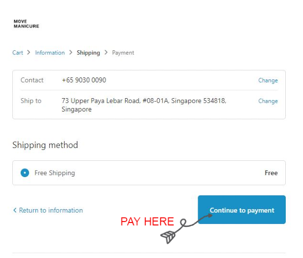 step 7 how to book an appointment with free shipping for orders above $100