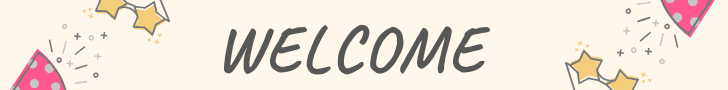 welcome-banner-with-stars-and-party-hats