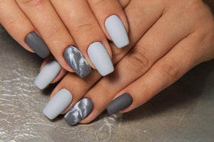 Gray Galaxy Manicure