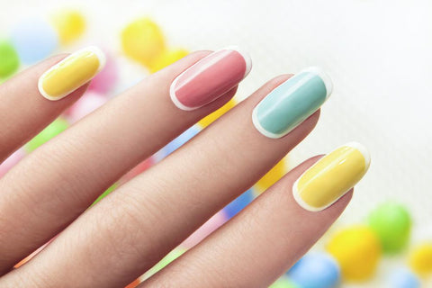 Pastel Rainbow Nails - Move Manicure