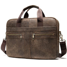 Load image into Gallery viewer, WESTAL Bag men's Genuine Leather briefcase Male man laptop bag natural Leather for men Messenger bags men's briefcases 2019