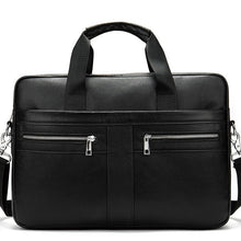 Load image into Gallery viewer, WETSTAL Business Men's Briefcases Men's Bag Genuine Leather Messenger Bags Laptop Bag Leather Briefcase Office Bags for Men 2019