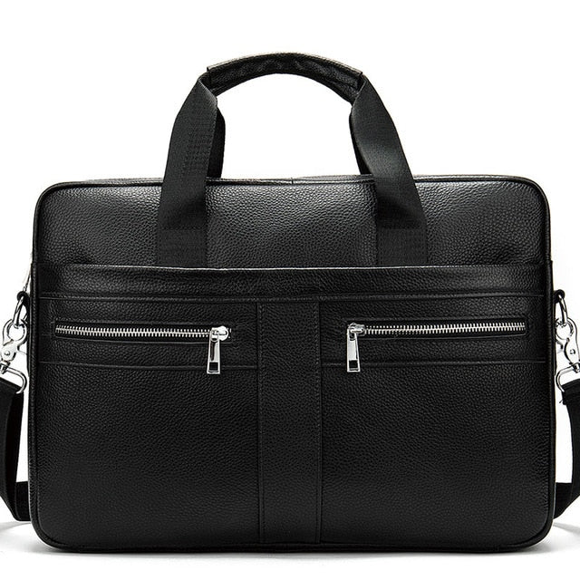 WETSTAL Business Men's Briefcases Men's Bag Genuine Leather Messenger Bags Laptop Bag Leather Briefcase Office Bags for Men 2019