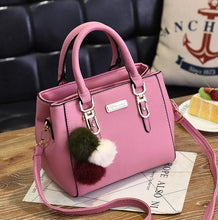 Load image into Gallery viewer, Luxury Handbag Women Bags Women Hairball Shoulder Bag  Ladies Hand Bags Vintage Leather Messenger Bag  Female Hand Bolso Bags