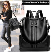 Load image into Gallery viewer, 2020 New Fashion Woman Backpack High Quality Youth PU Leather Backpacks for Teenage Girls Female School Shoulder Bag