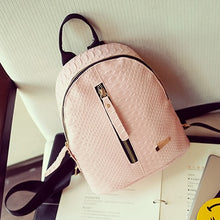 Load image into Gallery viewer, 2019 New Backpacks For High School Girls Fashion PU Leather Bags Ptgirl Alligator Mini Backpack Mochila Feminina рюкзак женский