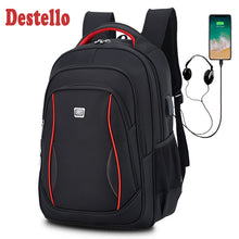 Load image into Gallery viewer, Waterproof Solid Large Backpack Men Laptop Bags Black Backpack Man Travel Backpack Teenager Bookbag Oxford Backpack