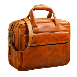Men Oil Waxy Leather Antique Design Business Briefcase Laptop Document Case Fashion Attache Messenger Bag Tote Portfolio 7146