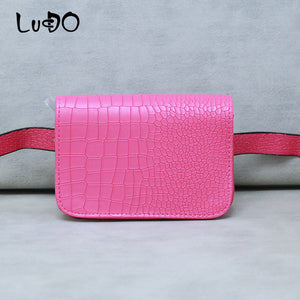 LUCDO Fashion Shine Women Waist Bag Fashion Chains Ladies Waist Bag Small Crossbody Messenger Bags Handbags Bolsa Feminina Sac