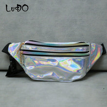 Load image into Gallery viewer, LUCDO Fashion Shine Women Waist Bag Fashion Chains Ladies Waist Bag Small Crossbody Messenger Bags Handbags Bolsa Feminina Sac