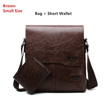 Load image into Gallery viewer, Men Tote Bags Set JEEP BULUO Famous Brand New Fashion Man Leather Messenger Bag Male Cross Body Shoulder Business Bags For Men