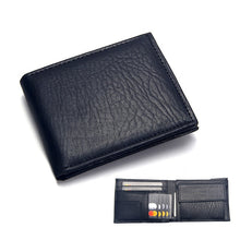 Load image into Gallery viewer, Casual Men's Wallets Leather Solid Luxury Wallet Men Pu Leather Slim Bifold Short Purses Credit Card Holder Business Male Purse