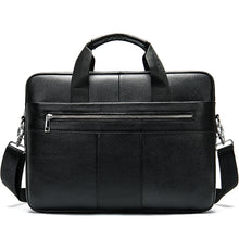 Load image into Gallery viewer, WESTAL men's briefcase bag men's genuine leather laptop bag business tote for document office portable laptop shoulder bag  8523