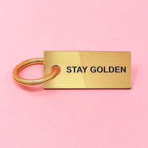 Stay Golden keychain