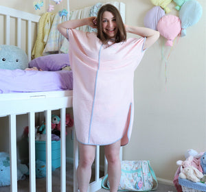 adult baby spring robe WAFFLE cotton