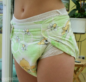 adult baby diaper pants flannel color