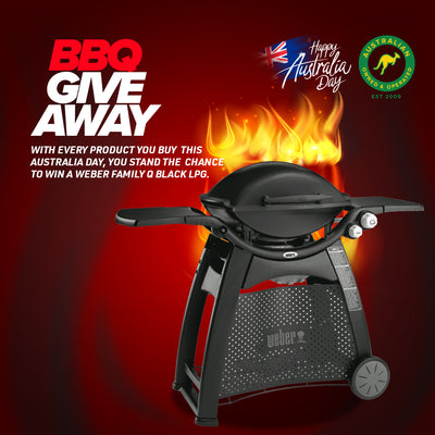 Buy any of Pagnain Product for your chance to win BBQ Weber Family Q Black LPG.