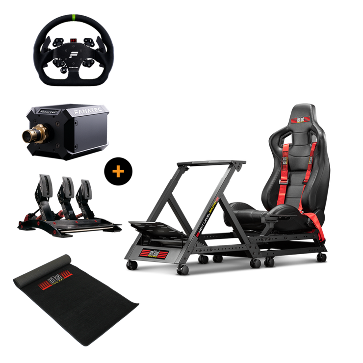 Next Level Racing GTtrack + Podium Wheel Base DD1 + ClubSport Pedals V3 + GT Alcantara Rim +  Floor mat - pagnianimports