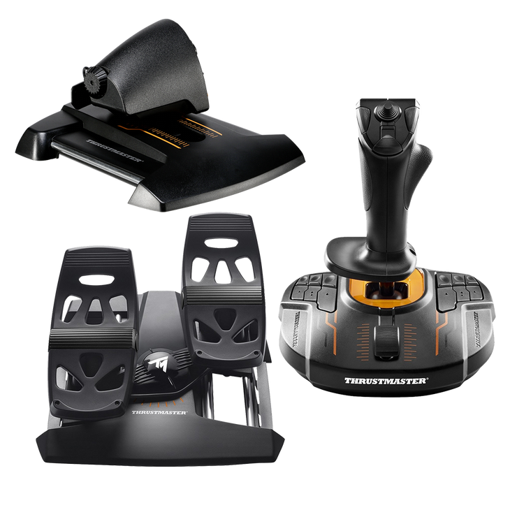 Thrustmaster T16000m Flight Stick + Thrustmaster Rudders + Thrustmaster Throttle - pagnianimports