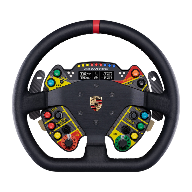 Fanatec Podium Steering Wheel Porsche 911 GT3 R Leather - pagnianimports
