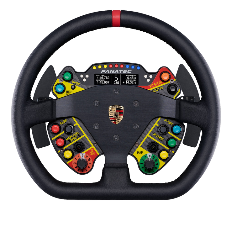 Fanatec ClubSport Steering Wheel Porsche 911 GT3 R Leather - pagnianimports