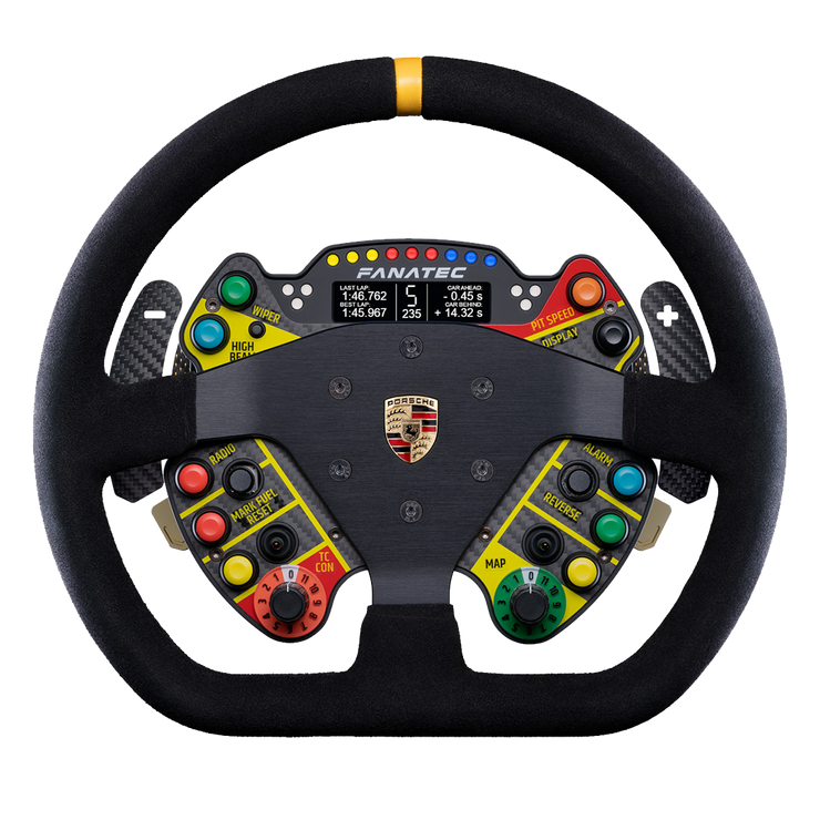 Fanatec ClubSport Steering Wheel Porsche 911 GT3 R Suede - pagnianimports
