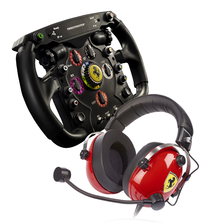 Thrustmaster Scuderia Ferrari Race Kit F1 addon + T Racing Headset - Pagnian Advanced Simulation