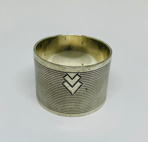 Sterling Silver Art Deco Napkin Ring 1930