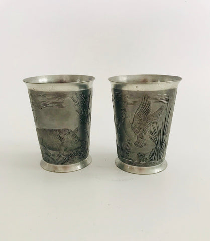 Pair of Pewter Goblets