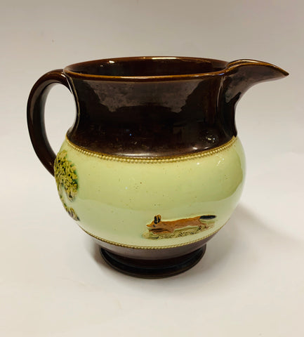Very big Bourne Denby Hunting Scene jug
