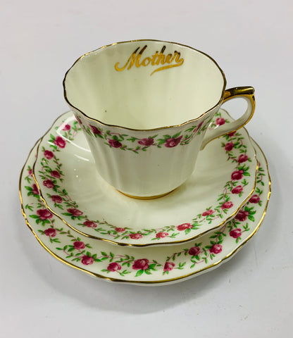 Royal Bone China Mother Cup Saucer and plate