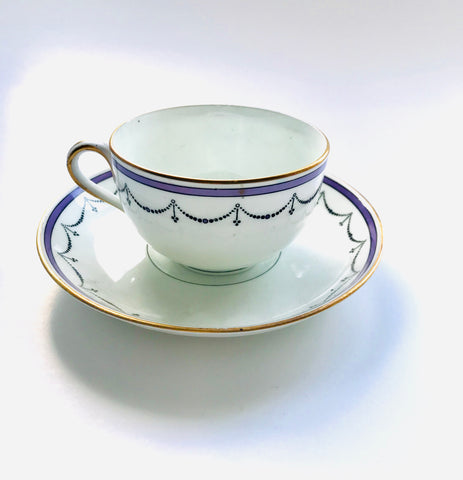 Purple Belford Cup and Saucer