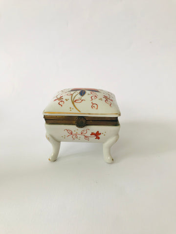 Small Porcelain Hinged Jewellery Box