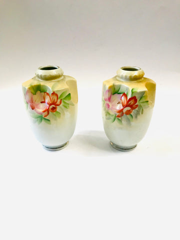 Pair of Small Handpainted Vases