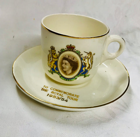 Royal Harvey Cup and Saucer To Commemorate The Royal Tour