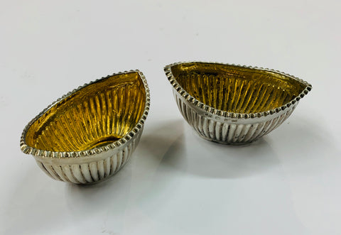 Pair of Sterling Silver salt pots