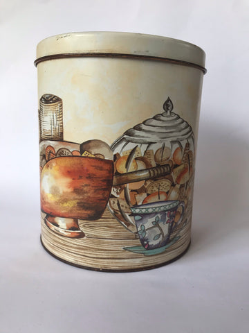 Cylindrical Biscuit Tin