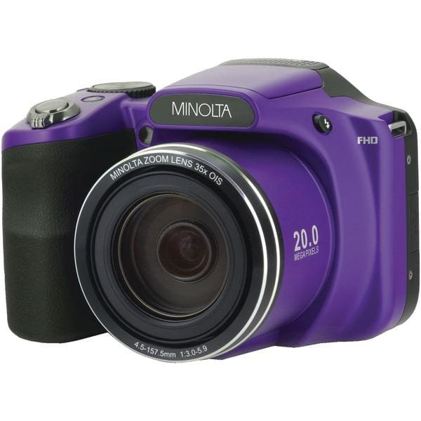 20.0-Megapixel 1080p Full HD Wi-Fi(R) MN35Z Bridge Camera with 35x Zoom (Purple) - Digital Cameras