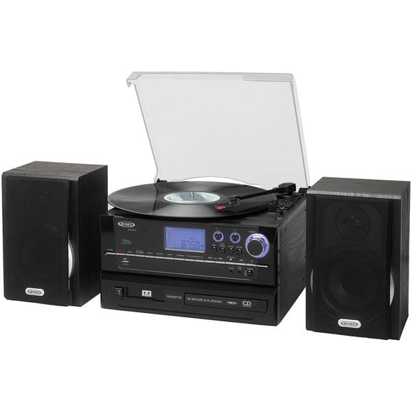 3-Speed Stereo Turntable with AM//FM Stereo Radio