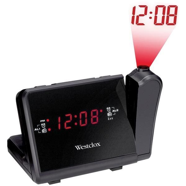 Digital LCD Projection Alarm Clock with AM-FM Radio - Personal Electronics