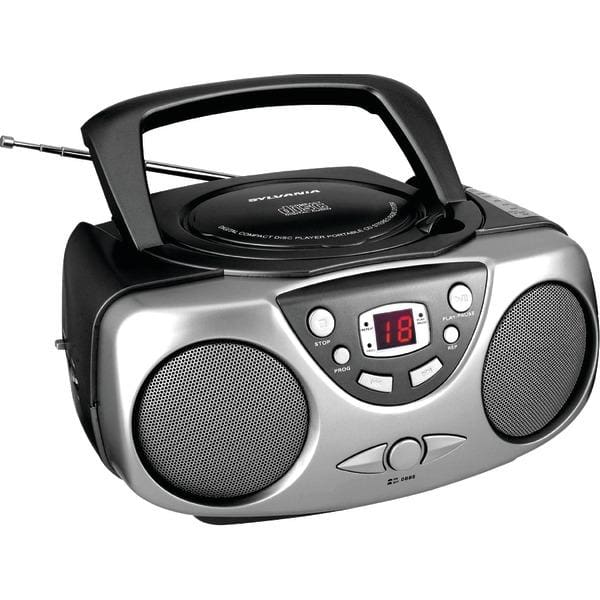 Portable CD Boom Boxes with AM-FM Radio (Black) - Personal Electronics