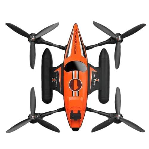 Triphibian RC Quadcopter 2.4Ghz Land Air And Sea Drone (Orange)