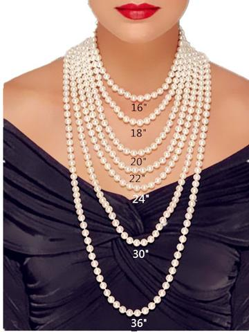 Pearl Necklace Size