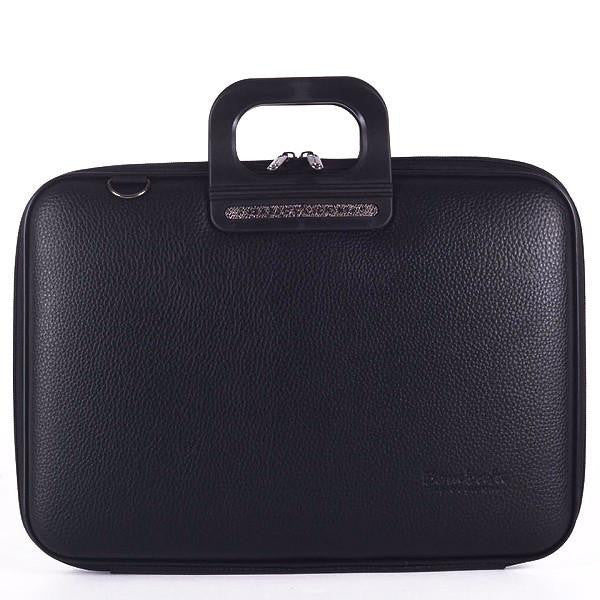 The TAORMINA All Black Briefcase by Fabio Guidoni
