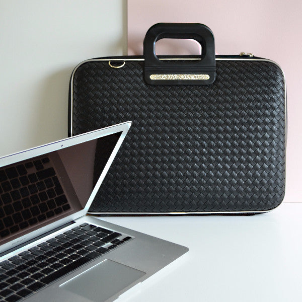 MURANO WEAVED BOMBATA BRIEFCASE FOR 12 INCH LAPTOP AND TABLET BY FABIO GUIDONI