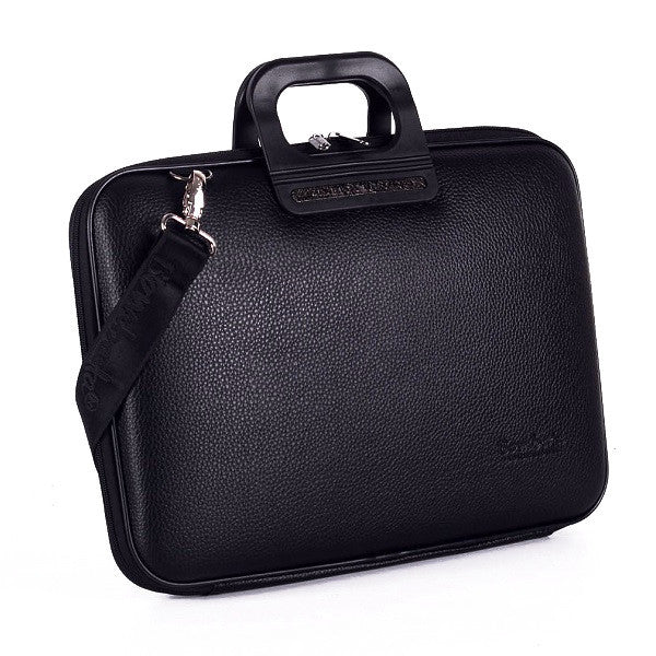 All Black Bombata Briefcase for 15.6 inch laptop Taormina by Fabio Guidoni - Bombata  - 1
