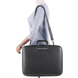 All Black Bombata Briefcase for 17 inch laptop Taormina by Fabio Guidoni - Bombata  - 6