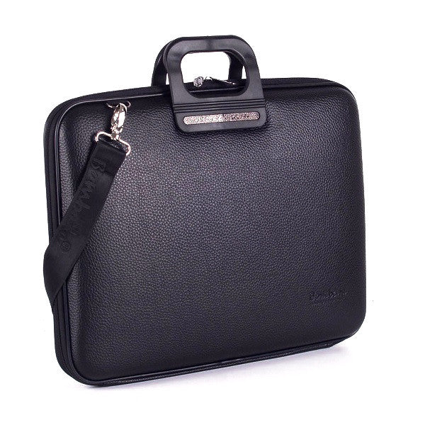 All Black Bombata Briefcase for 17 inch laptop Taormina by Fabio Guidoni - Bombata  - 1