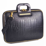 Gold Cocco Bombata briefcase for 15.6 inch laptop Arezzo by Fabio Guidoni - Bombata  - 9