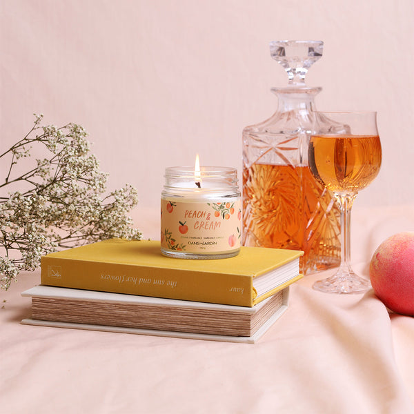Single Wick Candle – Peach & Cream